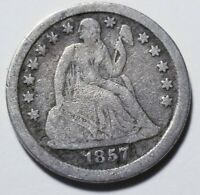 1857 O SEATED LIBERTY DIME GRADING VG PRICED RIGHT SHIPPED FREE  E175