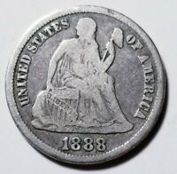 1888 S SEATED LIBERTY DIME GRADING FINE PRICED RIGHT SHIPPED FREE  E178
