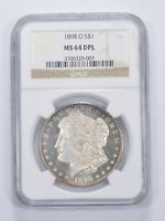 MINT STATE 64 DPL 1898-O MORGAN SILVER DOLLAR - GRADED NGC 6537