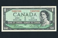 1954 ISSUE CANADA UNCIRCULATED 1 DOLLAR BANK NOTE S/N EY3087290