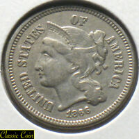 1866 U.S. 3 NICKEL AU DETAILS MANY  ITEMS IN OUR EBAY STORE