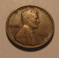 1914 D LINCOLN CENT PENNY   VERY FINE CONDITION   80SA