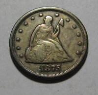 1875 S TWENTY CENT PIECE   VERY FINE CONDITION / NICE   46SA