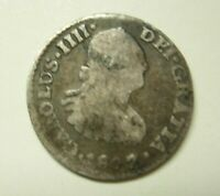 1807 SPANISH SILVER 1/4 REAL - OM - MEXICO CITY MINT