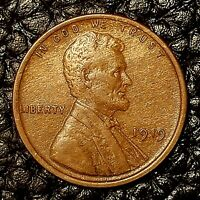 ITM-2550 1919 LINCOLN WHEAT CENT  EXTRA FINE /AU CNDTN    WOODY
