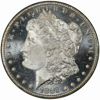 1881-CC $1 MORGAN DOLLAR PCGS MINT STATE 66DMPL