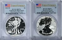 2013 W SILVER EAGLE REVERSE ENHANCED PR MS 70 PCGS WEST POIN