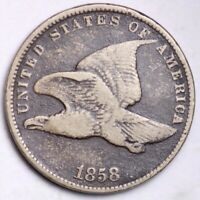 1858 SL FLYING EAGLE SMALL CENT CHOICE FINE SHIPS FREE E103 UCM