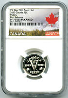 2020 CANADA 5 CENT SILVER PROOF NGC PF70 FIRST RELEASES VICT