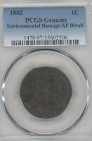 1802   EXTRA FINE   DETAIL LARGE CENT PCGS