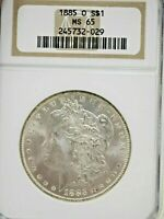 1885-O $ NGC MINT STATE 65 VAM-20 BOLD DOUBLE EAR OLD NGC HOLDER