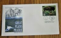 GREAT PLAINS PRAIRIE  BISON   BUFFALO  ARTMASTER CACHET 2001 FDC