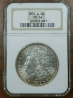 1899 O MORGAN NGC MINT STATE 64  VAM-30  DOUBLED DIE 189 HIGH O TILTED RIGHT