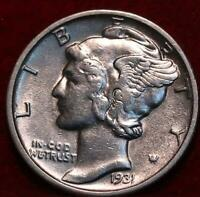 UNCIRCULATED 1931 S SAN FRANCISCO MINT SILVER  MERCURY DIME