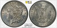 2 PCGS MORGAN SILVER GENUINE UNC CLEANED 1886 & 1902-O IT INCLUDES BOX PCGS