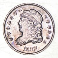1832 CAPPED BUST HALF DIME   CHARLES COIN COLLECTION  542