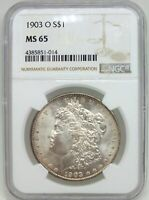 1903-O MORGAN SILVER DOLLAR NGC MINT STATE 65 CERTIFIED - NEW ORLEANS MINT - BJ582