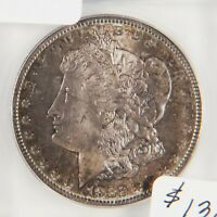 1882 S MORGAN SILVER DOLLAR, ICG MINT STATE 65, TONED