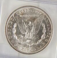 1898 MORGAN SILVER DOLLAR, ICG MINT STATE 65, REFLECTIVE SURFACES