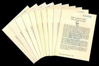 LOT OF 10 1881 CARSON CITY GSA CERTIFICATES IN  CONDITION 153366