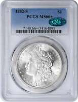 1882-S MORGAN SILVER DOLLAR MINT STATE 66 PCGS CAC