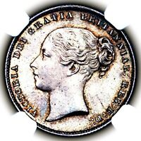 THE FINEST 1867 VICTORIA GREAT BRITAIN SILVER SHILLING COIN