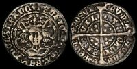 GREAT BRITAIN : 1422 61 HENRY VI 1ST REIGN GROAT ANNULET ISS