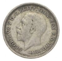 SILVER ROUGHLY SIZE OF DIME 1936 GREAT BRITAIN 3 PENCE WORLD