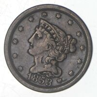 1853 BRAIDED HAIR HALF CENT   JEFFERSON COIN COLLECTION  728