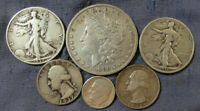 LOT OF 6 US SILVER COINS 1880 O MORGAN SILVER DOLLAR 2 LIBER