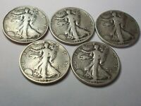 1927 S 1935 D P 1936 1937  5 EARLY LIBERTY WALKING HALF DOLL