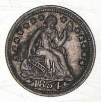 1854 SEATED LIBERTY HALF DIME   CHARLES COIN COLLECTION  557