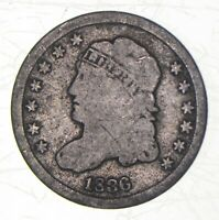 1836 CAPPED BUST HALF DIME   CHARLES COIN COLLECTION  543
