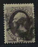 CKSTAMPS: US STAMPS COLLECTION SCOTT140? 12C USED FAINT GRIL
