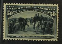 CKSTAMPS: US STAMPS COLLECTION SCOTT240 50C COLUMBIAN MINT H