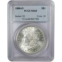 1880 O $1 MORGAN SILVER DOLLAR COIN MINT STATE 64 PCGS