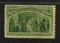 CKSTAMPS: US STAMPS COLLECTION SCOTT243 $3 COLUMBIAN MINT H