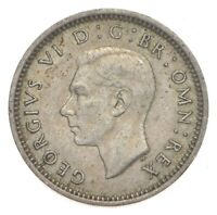 SILVER ROUGHLY SIZE OF DIME 1941 GREAT BRITAIN 3 PENCE WORLD