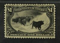 CKSTAMPS: US STAMPS COLLECTION SCOTT292 $1 MINT H OG LIGHTLY