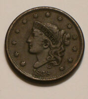 1838 CORONET HEAD LARGE CENT BOLD FULL DETAIL