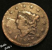 1817 CORONET HEAD LARGE CENT <> F DETAILS