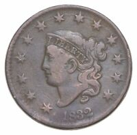 1832 MATRON HEAD LARGE CENT   WALKER COIN COLLECTION  095