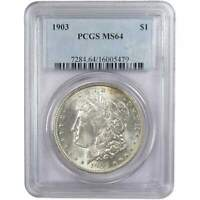 1903 $1 MORGAN SILVER DOLLAR COIN MINT STATE 64 PCGS