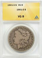 1901-S $1 ANACS VG 8 BETTER DATE MORGAN SILVER DOLLAR