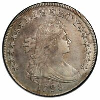 1798 $1 DOLLAR BUST, LARGE EAGLE PCGS AU50
