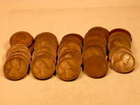 FULL 50 PIECE ROLL 1916-D AVE CIRC LINCOLN CENTS MOSTLY GOOD  1