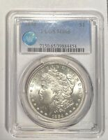 1884 P MORGAN SILVER DOLLAR PCGS MINT STATE 65 SIGHT WHITE