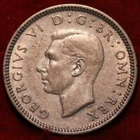 1939 GREAT BRITAIN 6 PENCE SILVER FOREIGN COIN