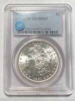 1891 P MORGAN SILVER DOLLAR PCGS MINT STATE 65 SIGHT WHITE