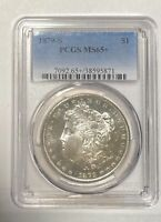 1879 S MORGAN SILVER DOLLAR PCGS MINT STATE 65
